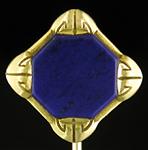 Brassler lapis lazuli stickpin. (J9519)